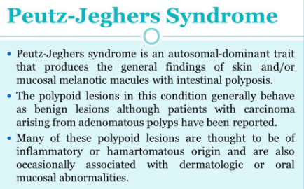 Peutz jeghers Syndrome defination