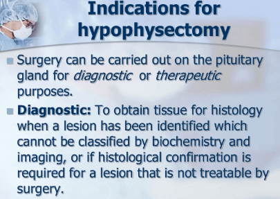 Transsphenoidal Hypophysectomy surgery